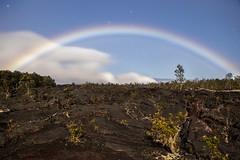 Ukulele Shells (Ramen Saha) Tags: moonbow lunarrainbow lava nationalpark longexposure hawaiʻi bigisland chainofcraterroad ramensaha moonlight stars cloudsandstars hawaiivolcanoesnationalpark volcanoesnationalpark lavarock rainbow