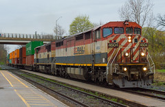 Glooming Morning 148 (Joseph Bishop) Tags: bcol 4604 cndundassubdivision woodstock trains train track tracks railfan railroad railway rail rails c408m