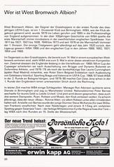 Grasshoppers Zurich vs West Bromwich Albion - 1981 - Page 22 (The Sky Strikers) Tags: grasshoppers zurich west bromwich albion wba brom sportplatz hardtum uefa cup programme fr 1