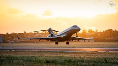 VistaJet | 9H-VJZ | Bombardier Global 6000-BD-700 | BGI (Terris Scott Photography) Tags: aircraft airplane aviation plane spotting nikon d750 f28 travel barbados jet jetliner vistajet bombardier global 6000bd700 tamron 70200mm di vc usd g2 sunset