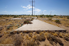 Giant Concrete X (walkerross42) Tags: giant concrete x casagrande arizona satellite desert calibration corona target mystery cross