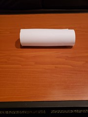 Cylinder w/ Hidden Support (awebb0918) Tags: paper art cylindrical intact shape punctured folded