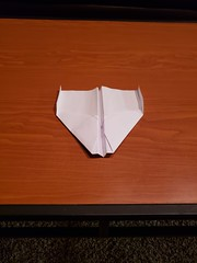 Eagle from my Father (awebb0918) Tags: paper airplane art aerodynamic nostalgia folded intact