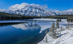End of Winter (Robert Grove 2) Tags: winter banff clear blue snow mountain trees landscape canada alberta beautiful nature robertgrove spring ice