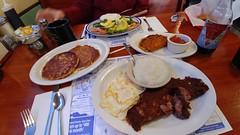 The Breakfast Spread (jimmywayne) Tags: jiggersdiner eastgreenwich rhodeisland breakfast kentcounty hash florentine salmon cornedbeef grits johnnycake