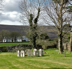 circletree (Shannon O'Haire) Tags: ballyvaughn church churches clare druidstones graveyardphotography graveyards cemeteries religiousstatues religiousinstitutions cross paganireland circlegrave memorials burren ireland eire waw wildatlanticway