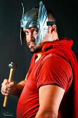 Thor (Philip Bonneau) Tags: thor marvel avengers endgame cosplay hero superhero hammer helmet pretend cape studioshot towel