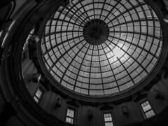 Dome (Lea Ruiz Donoso) Tags: dome galleries blanco y negro rotonda redondo monocromático techo círculo tejado arquitectura edificio geometría atrio patrón ventana simetría rueda textura comunidaddemadrid sansebastiandelosreyes madrid españa spain 2016 megapark plazanorte2 monochromo bw