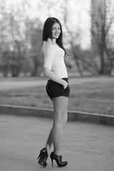Victoria (ivan_ko) Tags: portrait fujifilm x5pro nikkor 85 18 young beautiful woman girl blackandwhite bw bwphotography hair