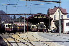 FTV 002 + 007 Valdagno 18/12/1979. Foto Roberto Trionfini (stefano.trionfini) Tags: train tram ftv vicenzavaldagno veneto italia italy