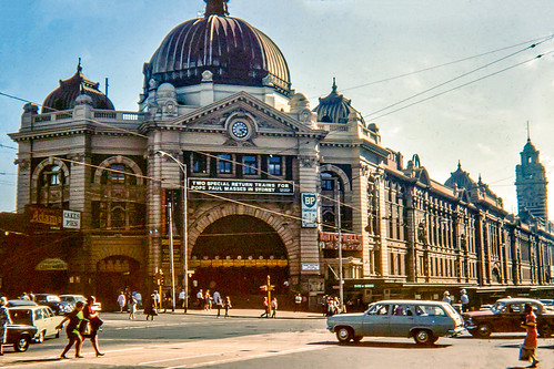1970 Flinders St Station Melbourne