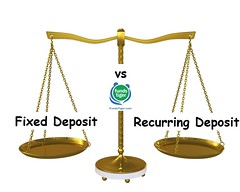 Fixed Deposits (FD) vs. Recurring Deposits (RD) (FundsTiger-Finance) Tags: lever instrument balance equal equality render measuring option selection metal object empty reflection comparison symbol system mass choice scale 3d isolated measurement right rendering scales concept verdict antique alternative dimensional equilibrium stand counterbalance crime constitution fairness conceptual gold business compare outweigh equivalent equally choose select shiny chain cup beam