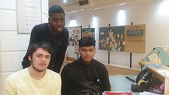 Ben, Chris & Syed. JtoJ Islington volunteers