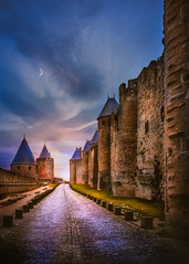 The night falls (Ro Cafe) Tags: castle old medieval sunset france carcassonne nikkor2470mmf28 sonya7iii