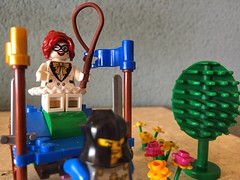 Woman power (sander_sloots) Tags: woman power lego toy girl tree boom vrouw zweep whip chariot flowers bloemen knight ridder knecht fun built moc harleyquinn harley quinn doesburg iphone