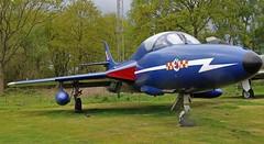 HAWKER HUNTER YORKSHIRE AIR MUSEUM ELVINGTON (toowoomba surfer) Tags: jet aeroplane aviation aircraft museum airmuseum aviationmuseum aerobaticteam raf