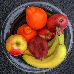 Changing my ways... (Timothy Valentine) Tags: home pear bowl apple 0419 glass squaredcircle fruit 2019 banana eastbridgewater massachusetts unitedstatesofamerica