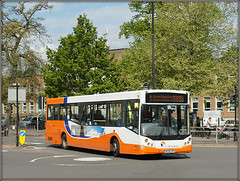 Travel de Courcey 556, Evreux Way (Jason 87030) Tags: man mcv evolution orange blue white travel mike decourcey firm midlands rugby coventry bus 556 585b stcrosshospital roadside shot shoot sony ilce buses