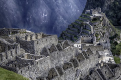 Exploring Machu Picchu (Steve Mitchell Gallery) Tags: machupicchu landscape landscapes inca incas ancient antiquities wondersoftheworld landmarks buildings civilizations travel peru