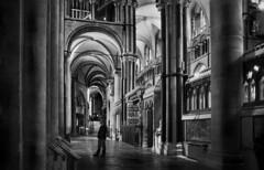 Canterbury Cathedral (Dave.Miles) Tags: canterburycathedral canterbury interior kent ilford ilfordfp4plus ilfotecddx olympus olympusom10 zuiko 24mmzuiko analogue 35mm 35mmfilm film filmisnotdead