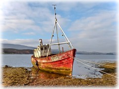 """The wreck of the """"Sabrina"""", Milford, Co. Donegal. (willieguildea) Tags: boat fishingboat trawler wreck vessel river lough sky clouds coast coastal coastalireland milford donegal ireland eire water waterscape"""