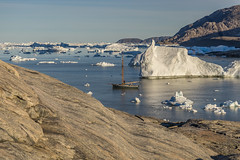 Kaerven, the descent.......... (apcmitch) Tags: mountains sea icebergs ice dolphin greenland eastgreenland2014 sonya7 sailing anchorages