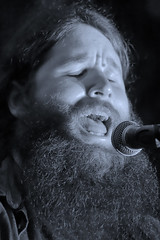 Hairy John (Idreamofpies) Tags: singer songwriter live music singing playing chester cheshire england uk gb britain united kingdom gig show open mic microphone monochrome black white canon ©idreamofpiesphotography beard hair hairy john hairyhohn performer guitarist