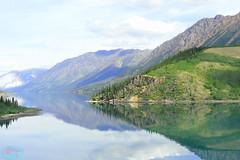 Tutshi Lake (die Augen) Tags: tutshi lake reflection water sky canada coolpix nikon