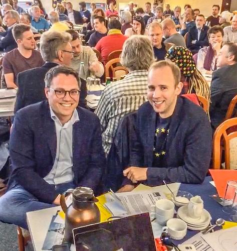 Mit Tiemo Wölken MdEP beim Parteitag der SPD Oldenburg.