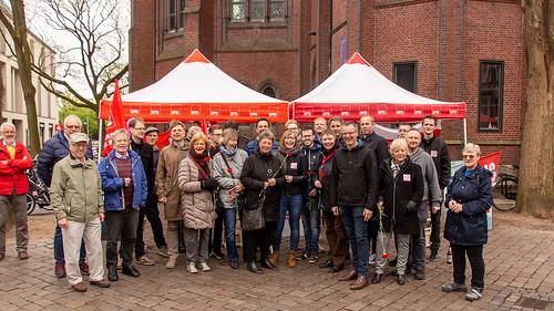 Mit der SPD Oldenburg zur Maikundgebung auf dem Rathausmarkt.
