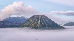 Morning View (tehhanlin) Tags: bromo indonesia surabaya tengger volcano volcanoes mountain morning sunrise beautifulsky sony ngc asia landscape landscapes sky misty fog