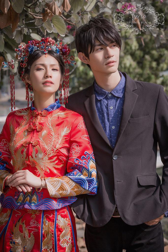 高雄婚紗攝影,高雄左營孔子廟,中式宮廷,婚紗景點高雄,視覺流感攝影