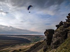 Paraglider above Pule Hill - Marsden (Craig Hannah) Tags: pulehill marsdenmoor landscape paraglider flying may 2019 westriding westyorkshire saddleworth craighannah canon photography photos