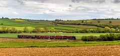 Train set (Peter Leigh50) Tags: 46233 duchess sutherland lms pacific 6233 stanier rutland railway railroad rail landscape glaston sky fujifilm fuji field farmland farm