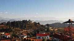 Allure of distant mountains.. (draskd) Tags: chaukori kmvntrh landscape panchachuli morning sunny morninglight mountain observationtower hill sky draskd nikon d5000 trh