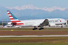American Airlines Boeing 777-200ER N795AN | Milano - Malpensa (MXP-LIMC) | 1st May 2019 (Brando Magnani) Tags: malpensa tripleseven aviation aircraft airplane landing boeing777 boeing americanairlines