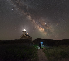 North Light 1867 (Mike Ver Sprill - Milky Way Mike) Tags: 1867 north light lighthouse milky way mike ver sprill michael versprill block island stars night sky nightscape landscape path trail sand dunes beautiful amazing starlight starry galaxy universe astrophotography astronomy dark skies learn photography midnight explorer