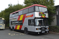 PMT 757 G757XRE (Will Swain) Tags: gladstone pottery museum during pmt running day 21st october 2018 preserved heritage bus buses transport travel uk britain vehicle vehicles county country england english stoke trent stokeontrent 757 g757xre