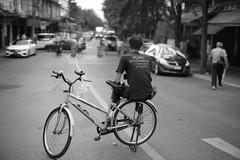 On the Bike (fredMin) Tags: black white travel bangkok thailand monochrome bicycle asia street fujifilm xt2 mitakon 35mm f095