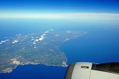 Island of Menorca (SomePhotosTakenByMe) Tags: menorca islandofmenorca balearicislands balearischeinseln insel island balearen ocean meer sea mittelmeer mediterraneansea flight flug indoor luftaufnahme aerialphotography luftbild landschaft landscape