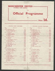 Manchester United Public Practise Match a week before the new 1956-7 Season was to commence. (Leslie Millman-Manchesterunitedman1) Tags: publicpractisematch 19567 busby babes