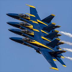Blue Angels - 34 (NickJ 1972) Tags: naf elcentro airshow 2019 aviation mcdonnelldouglas fa18 hornet blueangels 163439 1 163451 2 163429 3 163708 4