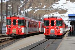2019-04-18, MGB, Andermatt (Fototak) Tags: schmalspurbahn train treno railway switzerland mgb andermatt 4153 4155