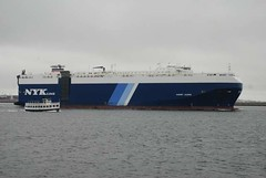 Garnet Leader (jelpics) Tags: carcarrier cargoplane nykline garnetleader merchantship boat boston bostonharbor bostonma harbor massachusetts ocean port sea ship vessel
