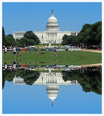 Capitol Reflections (Eclectic Jack) Tags: processing processed process post manipulated mall dc washington columbia district reflection reflec grass soccer capitol