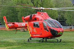London's Air Ambulance in Shepherds Bush (kertappa) Tags: img7490 air ambulance londons london hems doctor paramedics hospital gehms emergency helicopter kertappa shepherds bush green