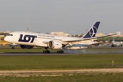 LOT Polish Airlines   Boeing 787-8 Dreamliner   SP-LRC   20.04.2019   Warsaw - Okecie (Maciej Deliś) Tags: lot polish airlines boeing 7878 dreamliner b787 b788 splrc warsaw chopin airport