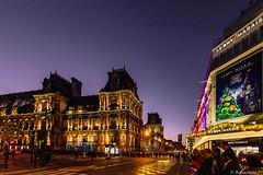 Paris by night-01 (bonacherajf) Tags: paris france bhv hôteldeville bynight nocturne