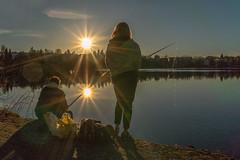 fishing in the evening (VisitLakeland) Tags: finland kuopio lakeland valkeinen valkeisenlampi lake lampi luonto maisema nature outdoor scenery