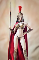 Spartan 1 (Mr Action Figure) Tags: 16scale 16 phicen tbleague seamless seamlessfigure female femalefigure spartan warrior armor spear shield helmet cape thong sword battle greek roman verycooltoys hottoys doll toy